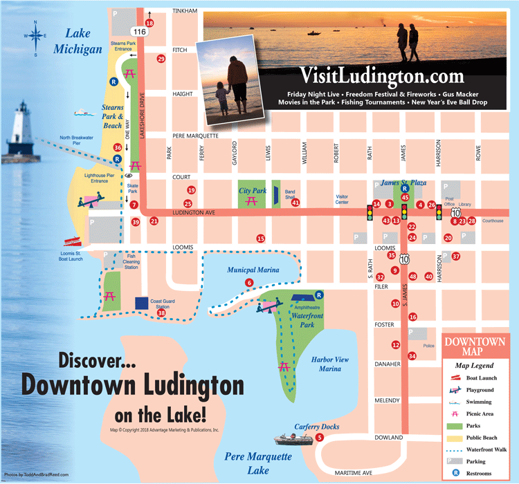 Downtown Ludington map