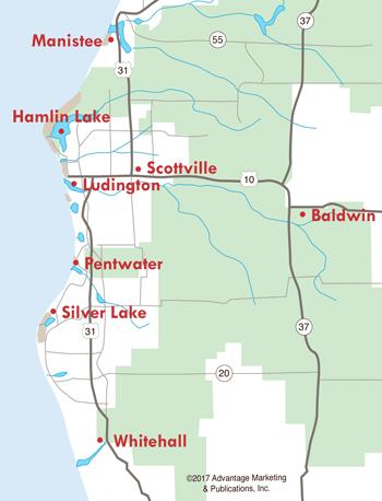 West Michigan Map