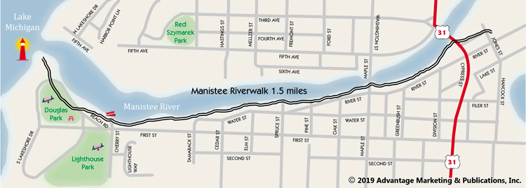Manistee Riverwalk Map