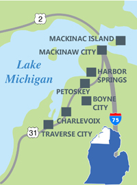 West Michigan Map