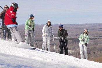 Visit Harbor Springs Michigan Downhill Skiing Cross