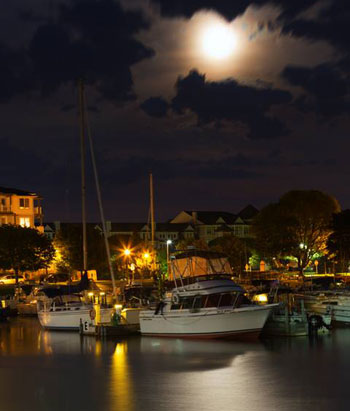 moon over marina