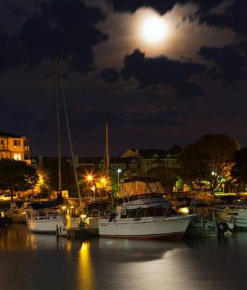 moon over marina