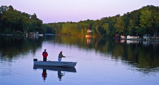 fishing hamlin lake michigan