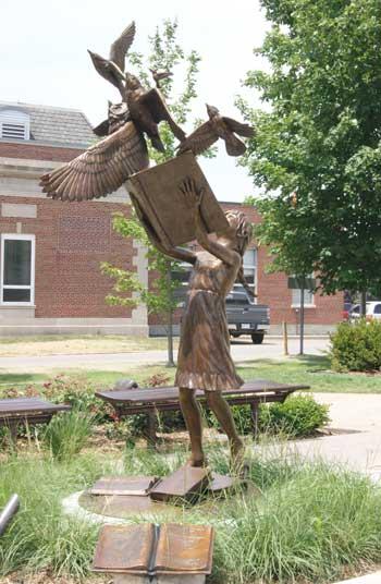 flight statue