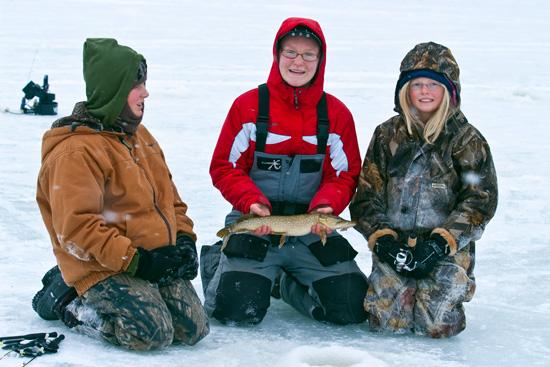 Ice Fishing On Hamlin Lake