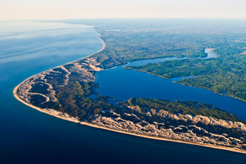 Arial photo of Hamlin Lake