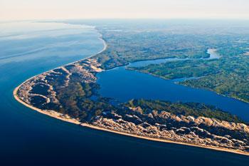 Arial photo of Hamlin Lake