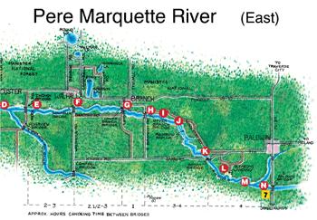 Pere Marquette River Map Visit Ludington   Pere Marquette River Business Directory Locator  Pere Marquette River Map