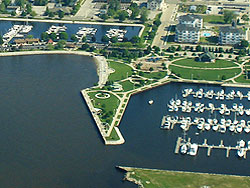 Visit the Waterfront Park in Downtown Ludington