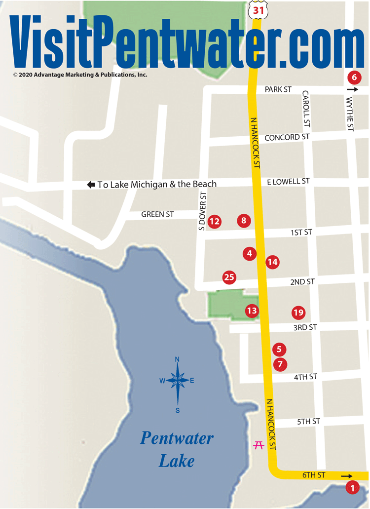 Pentwater Map