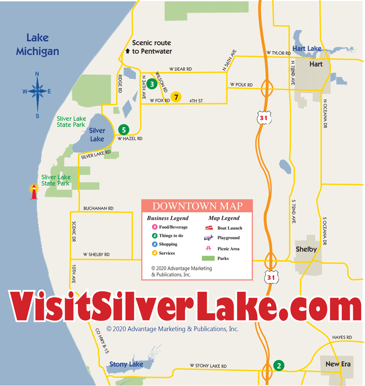 map of silver lake michigan West Michigan Lighthouses Silver Lake Business Directory Locator map of silver lake michigan